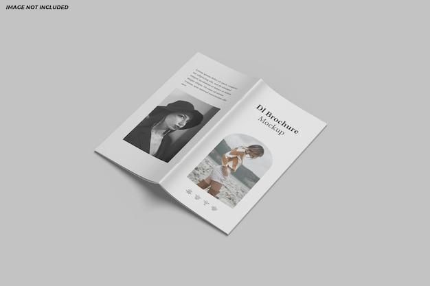 Dl brochure tweevoudig mockup-ontwerp