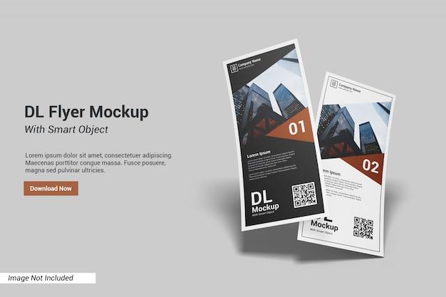 Dl flyer mockup con modello di testo