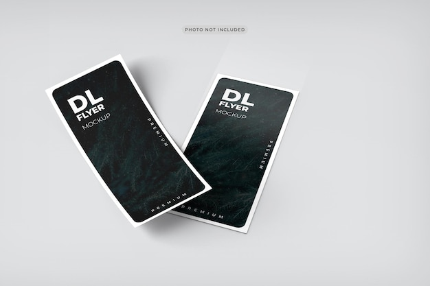 Dl flyer mockup design rendering
