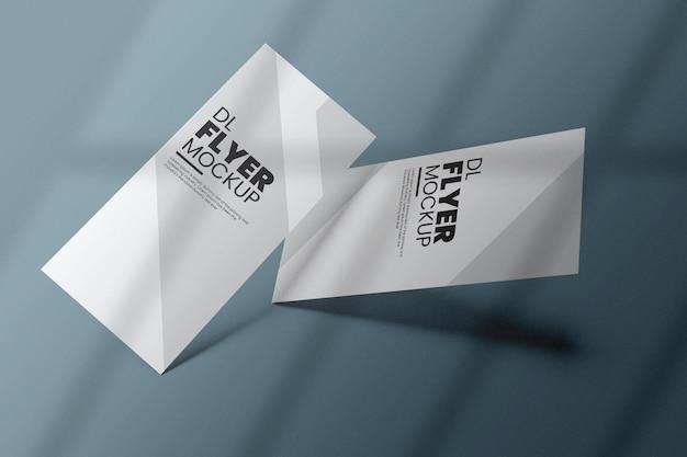 Dl-flyer mockup-ontwerp in 3d-rendering Premium Psd