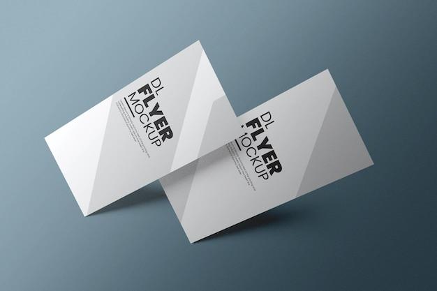 Dl-flyer mockup-ontwerp in 3d-rendering