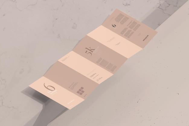 Dl-formaat zesvoudig brochuremodel