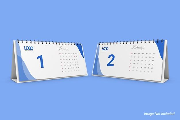 Dl landscape business desk calendar mockup