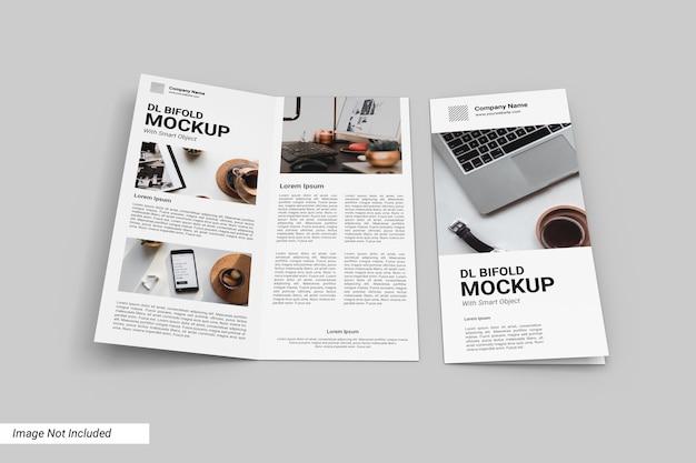 Dl tweevoudig brochuremodel met vooromslag