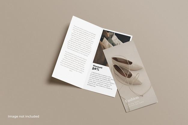 Dl tweevoudig brochuremodel