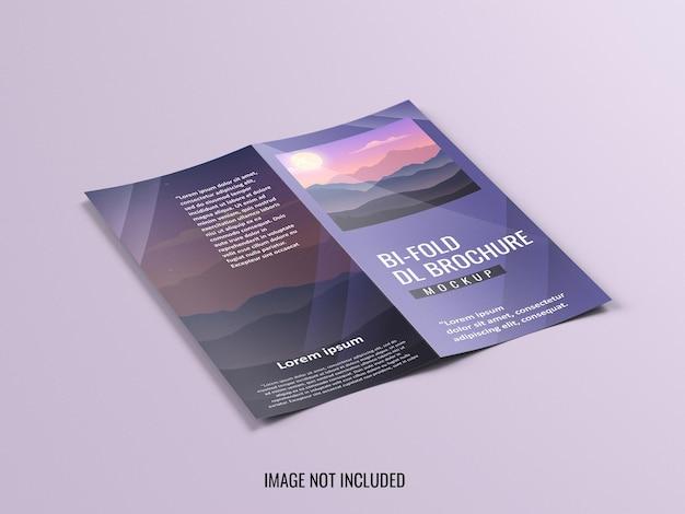 Dl tweevoudige brochure mockup