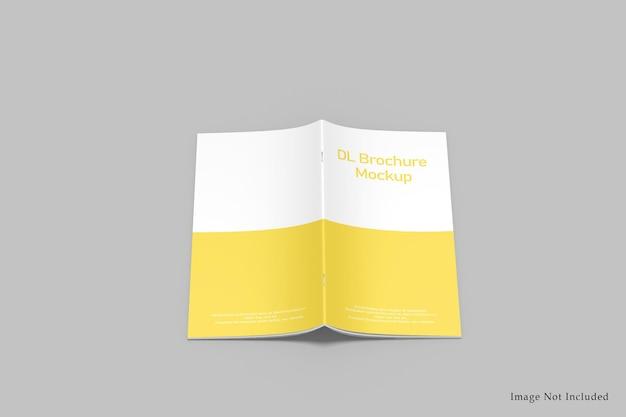 Dl tweevoudige brochuremockup