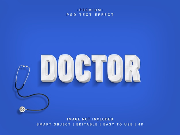 Doctor premium psd text effect