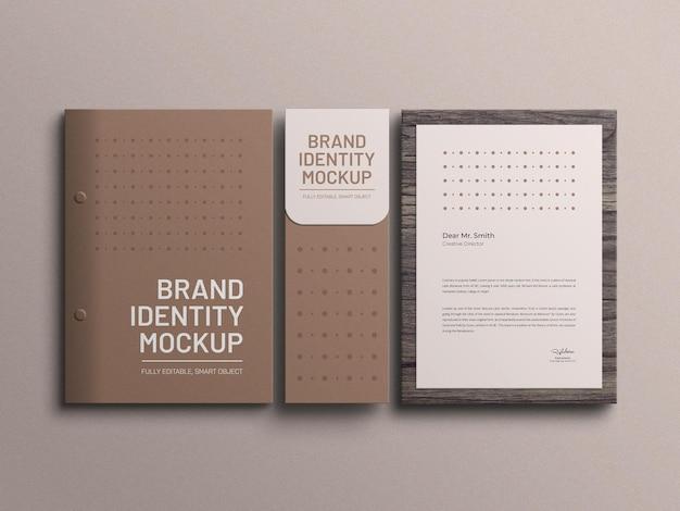 Documentbestand briefpapier mockup