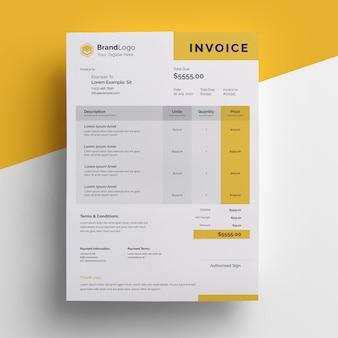 Documento de factura realista