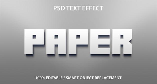 Documento técnico sobre efectos de texto editable