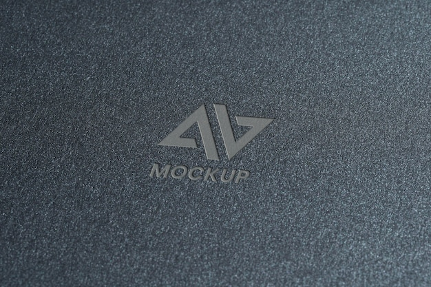 Documentos con elegante diseño de logotipo de maqueta