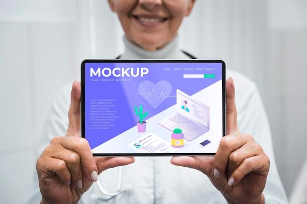 Dokter bedrijf tablet mock-up