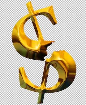Dólar de oro roto