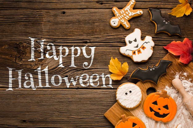 Dolci dolcetto o scherzetto di halloween felice