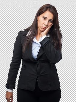 Dolor de muelas fresco de mujer de negocios