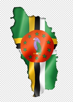Dominica vlag kaart