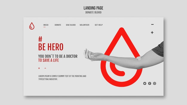 Doneer bloed homepage