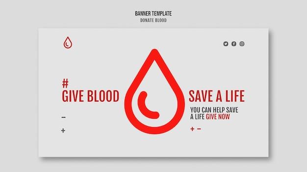 Doneer bloed-sjabloon voor spandoek
