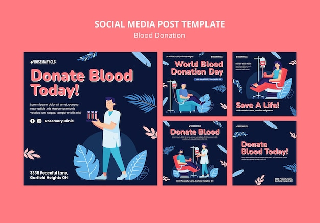 Doneer bloed social media post