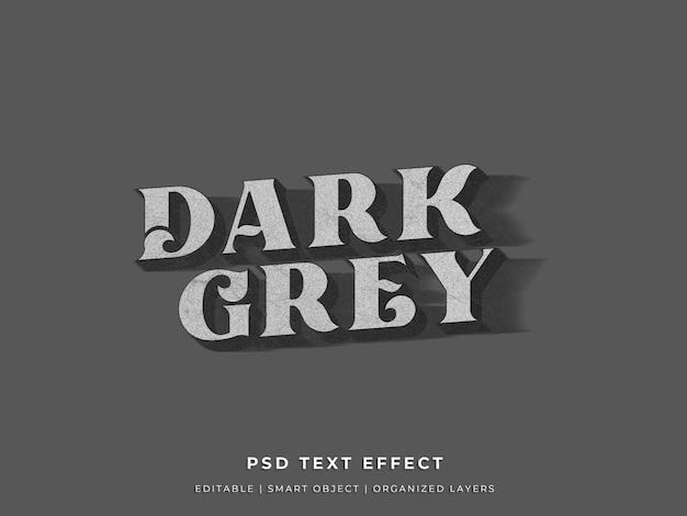 Donker en grijs teksteffect
