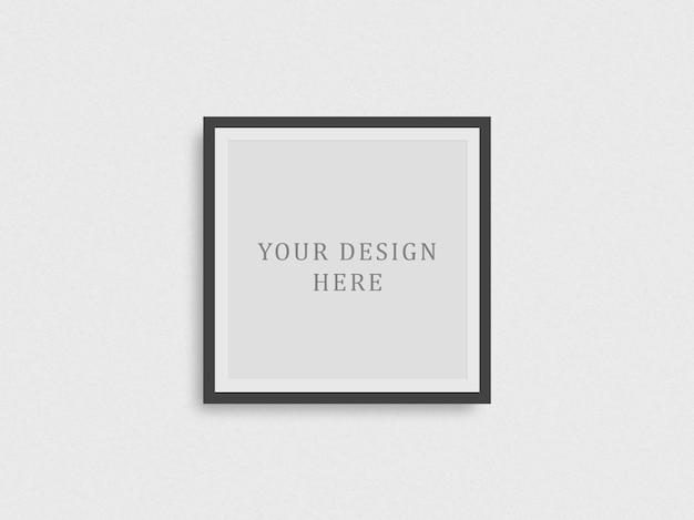 Donker frame concept mockup voor je fotografie