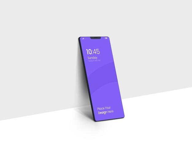 Donker smartphone-mockup op volledig scherm