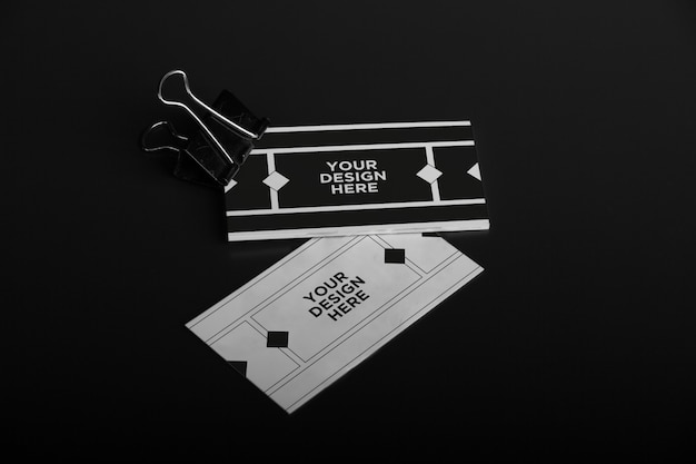 Donker visitekaartjemodel