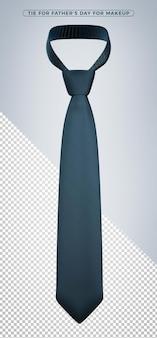 Donkerblauwe stropdas 3d-rendering