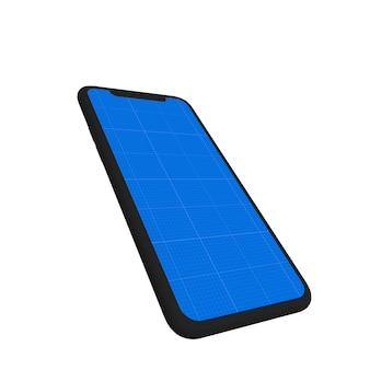 Donkere mobiele mockup