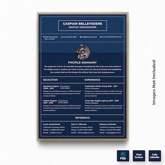 Donkere professionele cv cv-template