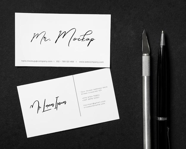 Donkere stenen elegante mockup voor briefpapier