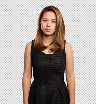 Donna cinese in piedi