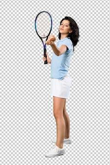 Donna giovane tennista