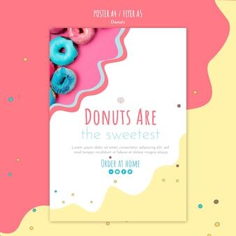 Donut concept flyer sjabloon