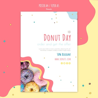 Donut concept flyer sjabloon