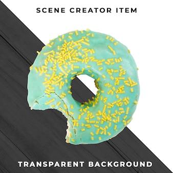 Donut-object op transparante psd