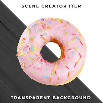 Donut objeto en psd transparente