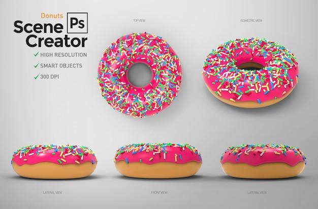 Donuts. creatore di scene.