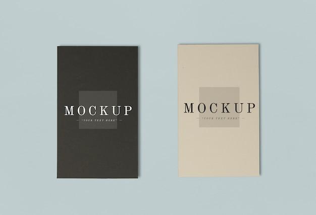 Dos colores de tarjetas de nombre maquetas