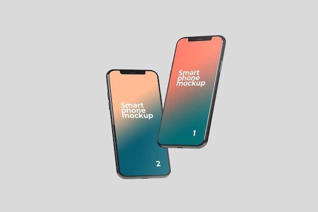 Dos maquetas de teléfonos inteligentes