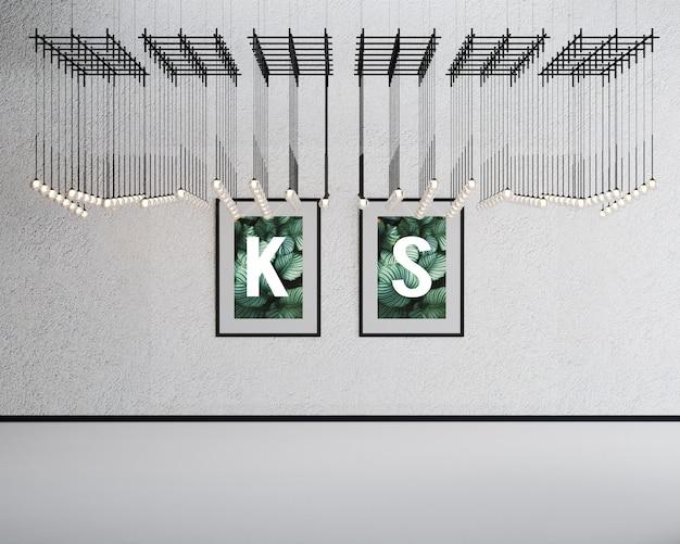 Double wall mockup