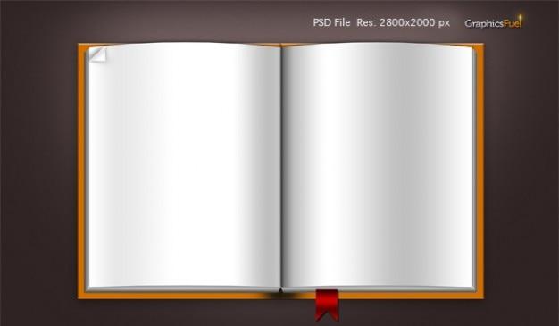 Downloaden leeg boek template psd-bestand en iconen