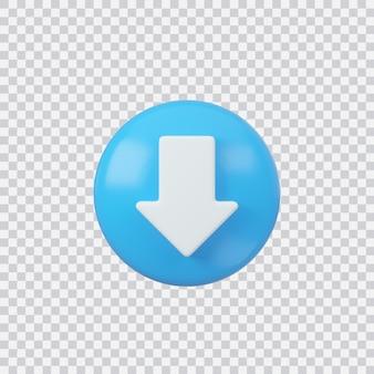 Downloaden teken knop geïsoleerd