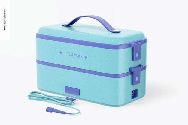 Draagbare elektrische lunchbox-mockup