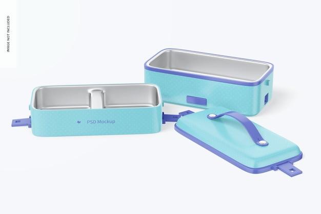 Draagbare elektrische lunchboxen mockup
