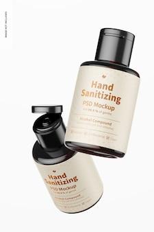 Draagbare handdesinfecterende gels met labelmodel, drijvend
