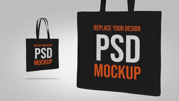 Draagtas mockup 3d-rendering ontwerp