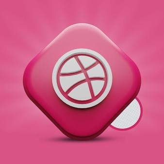 Dribbble 3d-pictogramweergave