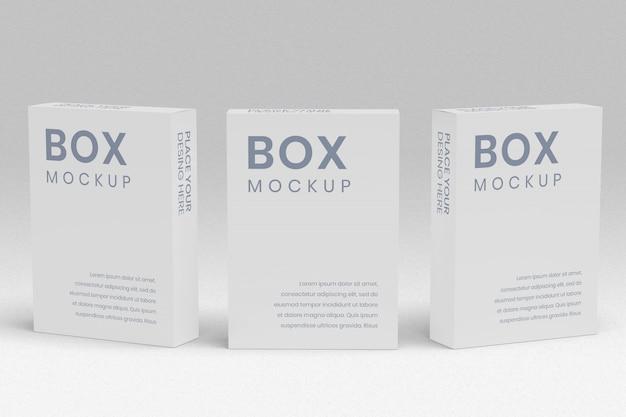 Drie box mockup vooraanzicht